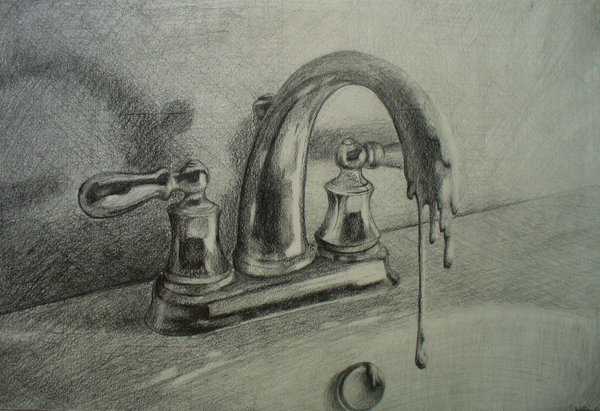 Faucet - Pencil on paper