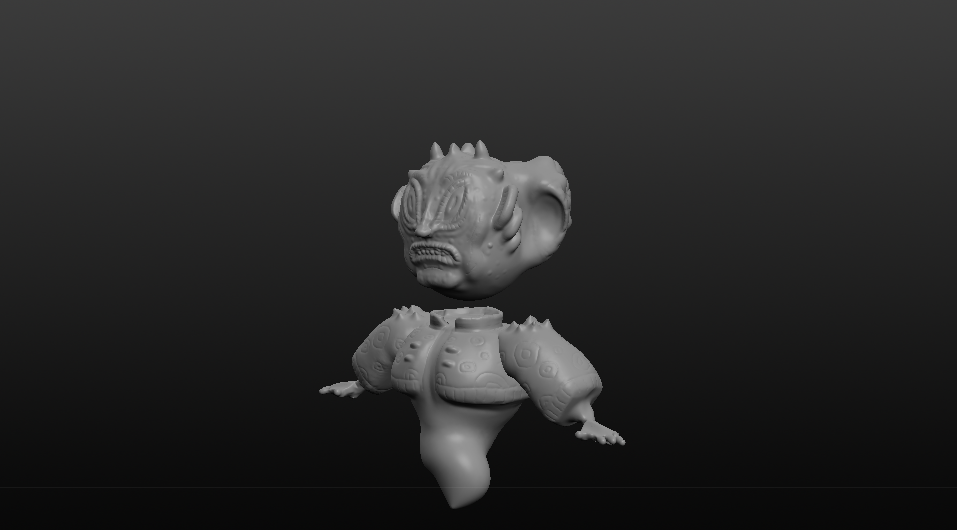 3D Sculpted Creature - Side (Created in Sculptris)